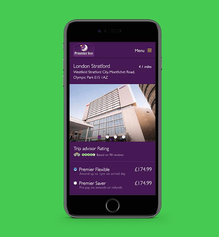 Premier Inn Mobile – £1m revenue increase